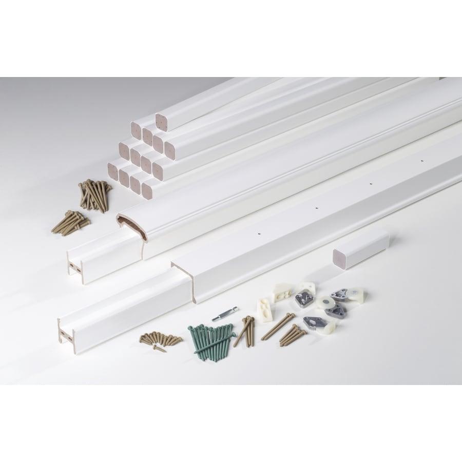 AZEK Trademark Rail White Composite Deck Railing Kit (Assembled: 10-ft x 3-ft)