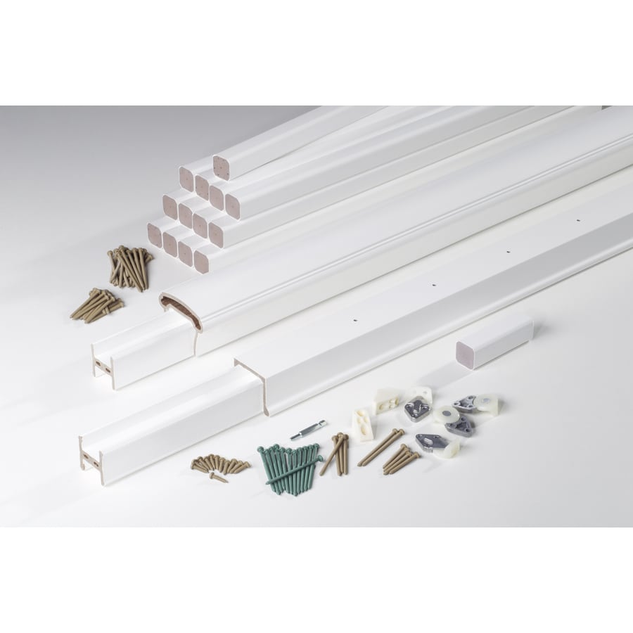 AZEK (Assembled: 8-ft x 3.5-ft) Trademark Rail White Composite Deck Railing Kit