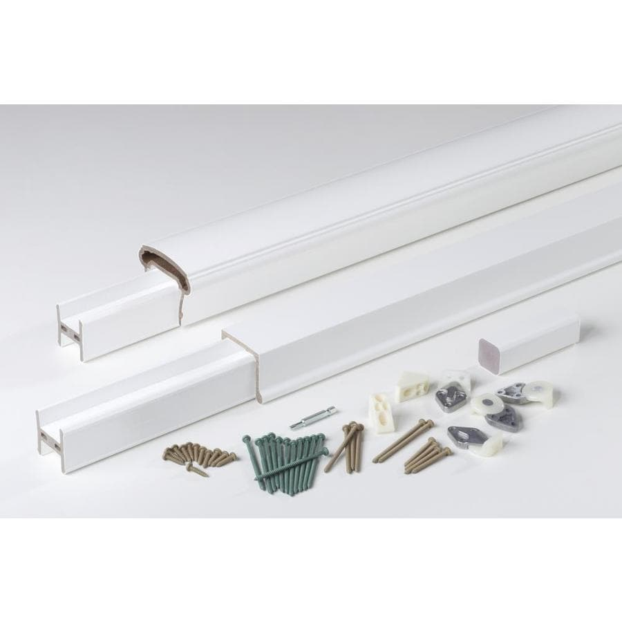 AZEK (Assembled: 10-ft x 3-ft) Trademark White Composite Deck Railing Kit