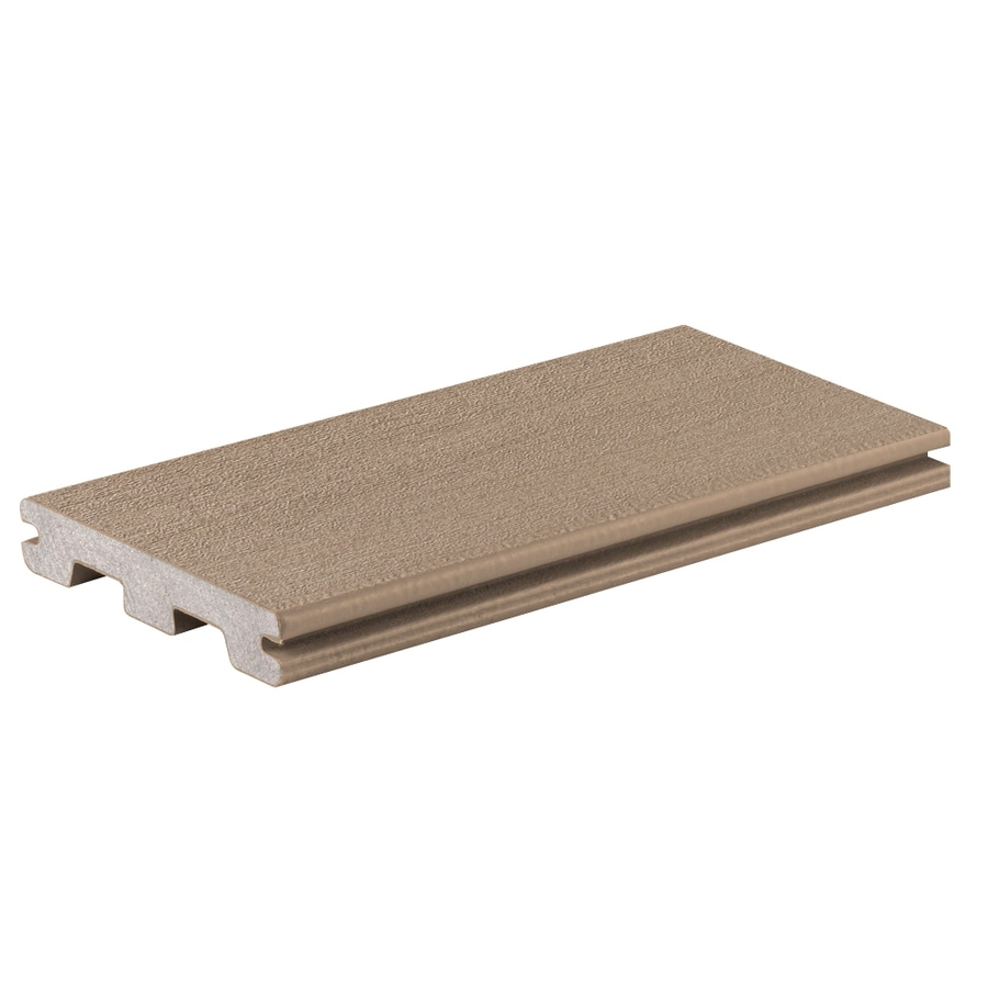 TimberTech (Actual: 0.94-in x 5.36-in x 12-ft) Sandy Birch Grooved Composite Deck Board