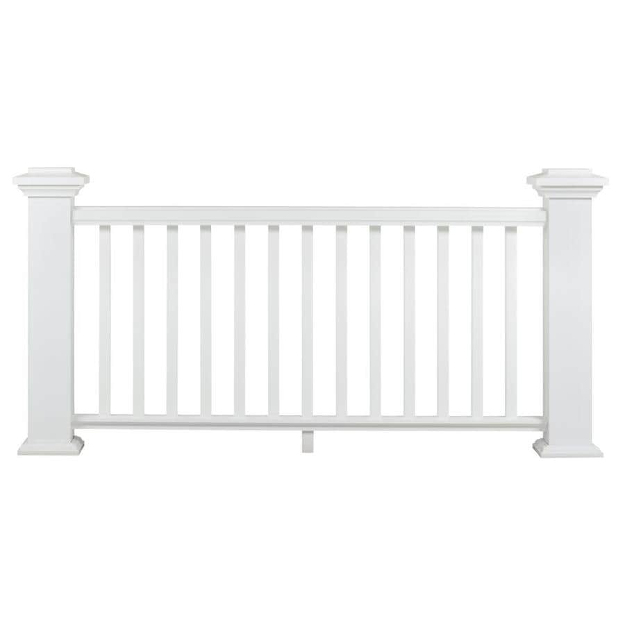 AZEK (Assembled: 8-ft x 3 Feet) Reserve Rail White Composite (Not Wood) Deck Railing Kit