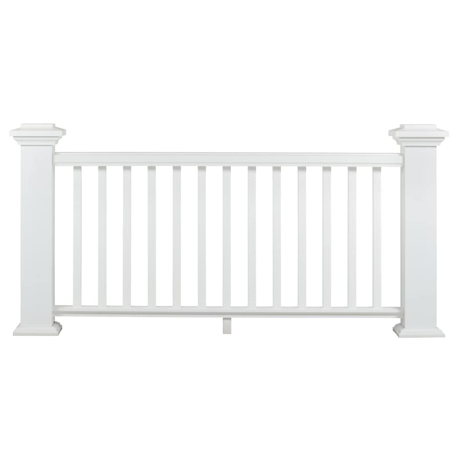Shop AZEK (Assembled: 8-ft x 3 Feet) Reserve Rail White Composite (Not Wood) Deck Railing Kit at ...