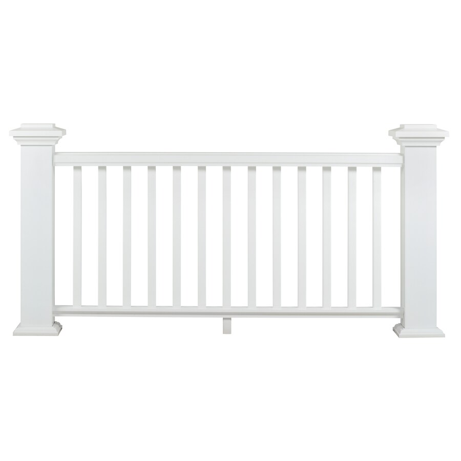 AZEK (Assembled: 10-ft x 3-ft) Reserve Rail White Composite Deck Railing Kit