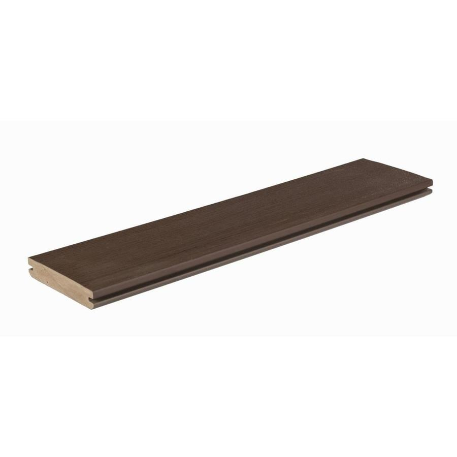 Shop azek arbor 16 ft acacia grooved pvc deck board at for What is capped composite decking