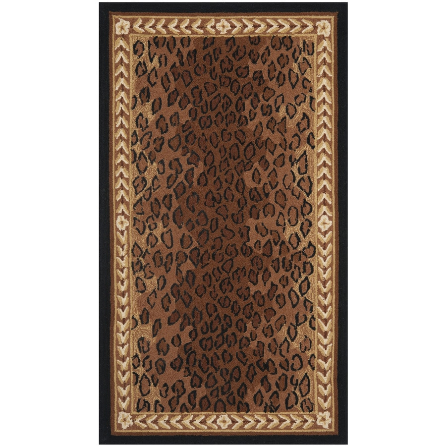 Shop Safavieh Chelsea Leopard Black Brown Indoor