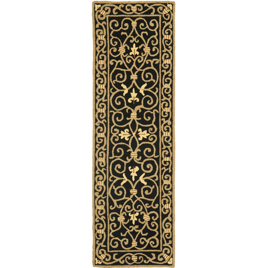 Safavieh Chelsea Iron Gate Black Indoor Handcrafted Lodge Runner (Common: 2 x 12; Actual: 2.5-ft W x 12-ft L)