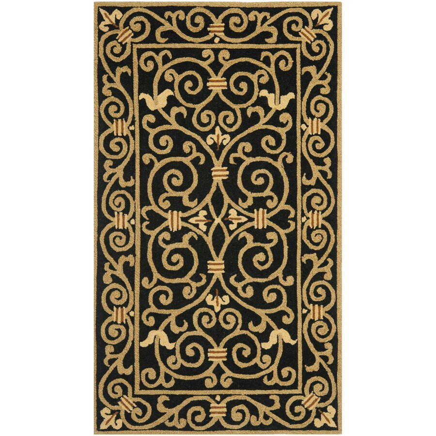 Safavieh Chelsea Iron Gate Black Indoor Handcrafted Lodge Throw Rug (Common: 3 x 5; Actual: 2.75-ft W x 4.75-ft L)