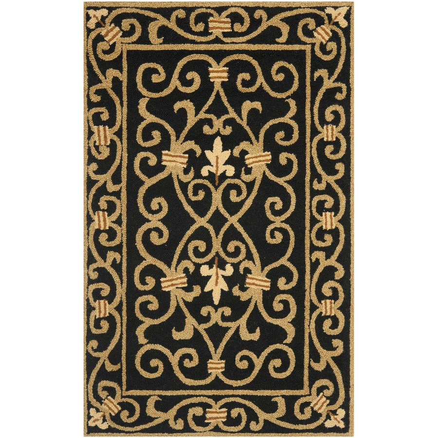 Safavieh Chelsea Iron Gate Black Indoor Handcrafted Lodge Area Rug (Common: 4 x 6; Actual: 3.75-ft W x 5.75-ft L)