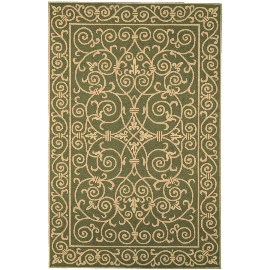 Safavieh Chelsea Iron Gate Light Green Rectangular Indoor Handcrafted Lodge Area Rug (Common: 5 X 8; Actual: 5.25-ft W x 8.25-ft L)