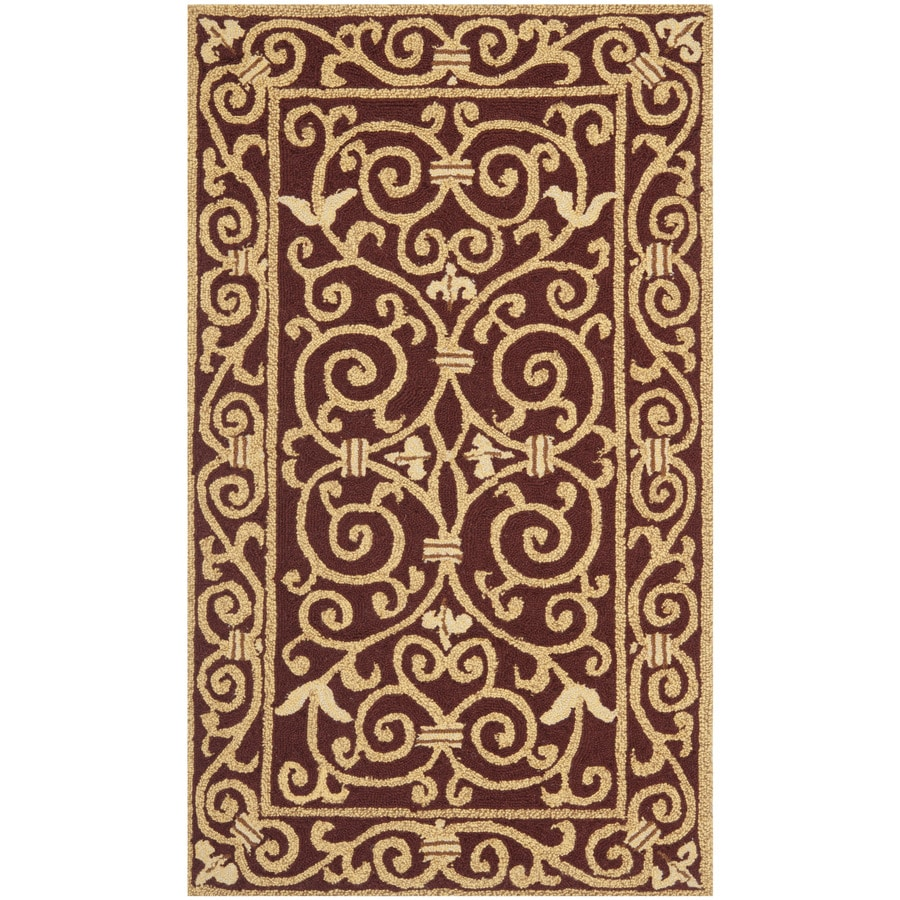 Safavieh Chelsea Iron Gate Burgundy Rectangular Indoor Handcrafted Lodge Throw Rug (Common: 3 X 5; Actual: 2.75-ft W x 4.75-ft L)
