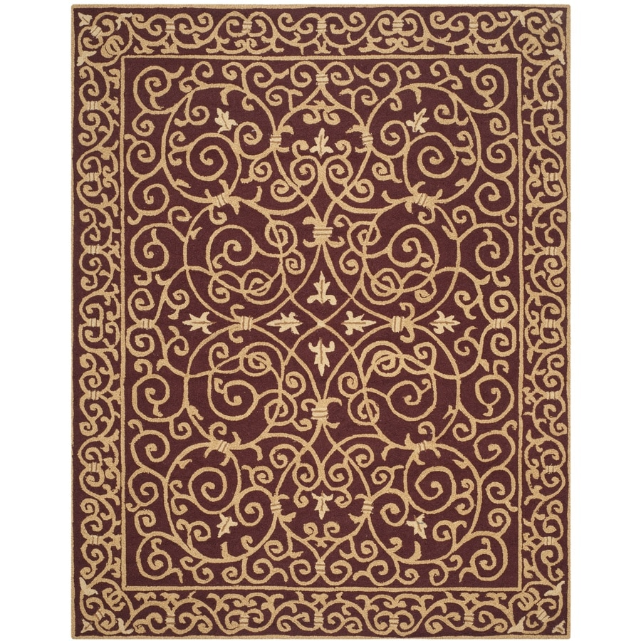 Safavieh Chelsea Iron Gate Burgundy Rectangular Indoor Handcrafted Lodge Area Rug (Common: 6 x 9; Actual: 6-ft W x 9-ft L)