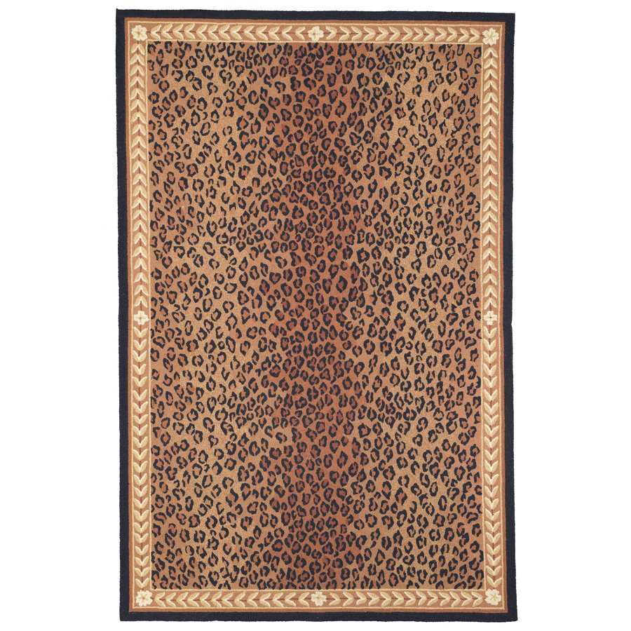Safavieh Chelsea Black and Brown Rectangular Indoor Hand-Hooked Area Rug (Common: 6 x 9; Actual: 6-ft W x 9-ft L)