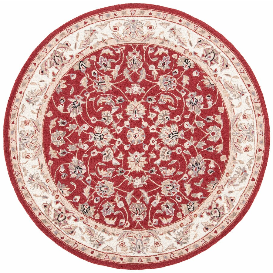 Shop Safavieh Chelsea York Burgundy Ivory Round Indoor