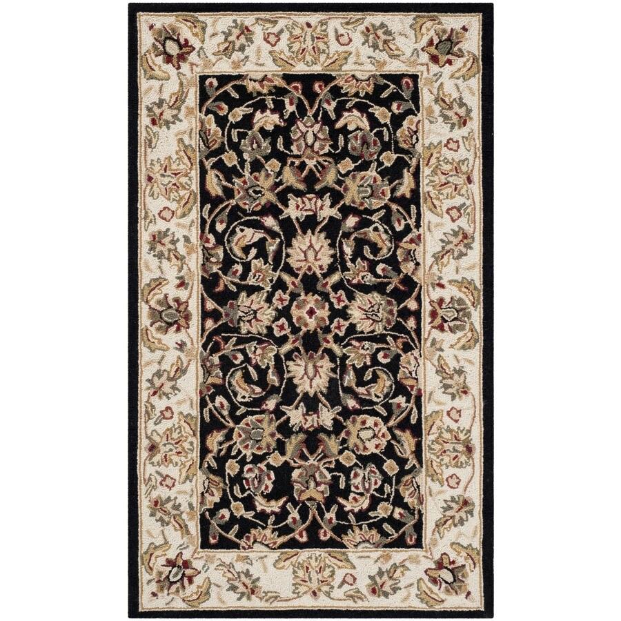 Safavieh Chelsea York Black Rectangular Indoor Handcrafted Lodge Throw Rug (Common: 3 x 5; Actual: 2.75-ft W x 4.75-ft L)