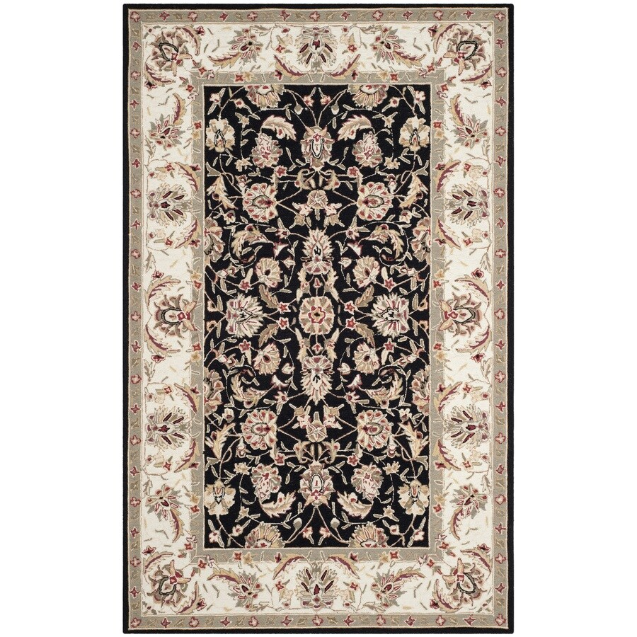Shop safavieh chelsea york black rectangular indoor for Area rugs new york