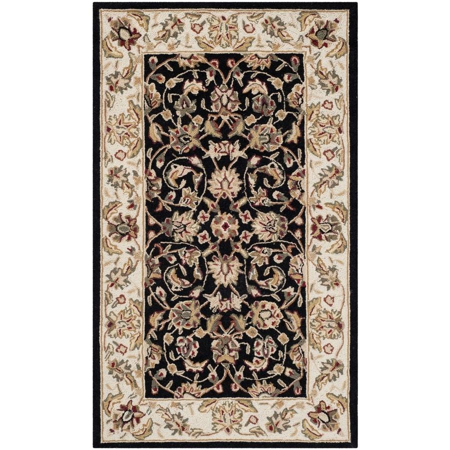 Safavieh Chelsea York Black Rectangular Indoor Handcrafted Lodge Throw Rug (Common: 2 x 4; Actual: 2.5-ft W x 4-ft L)