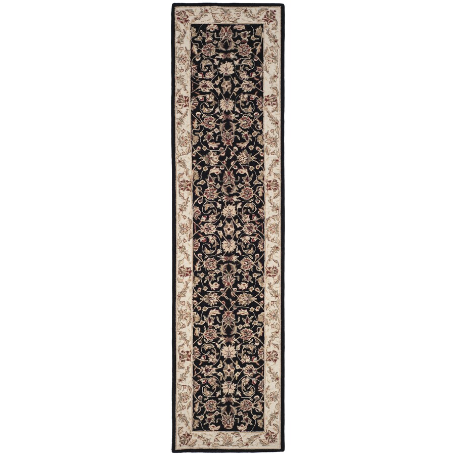 Safavieh Chelsea York Black Indoor Handcrafted Lodge Runner (Common: 2 x 10; Actual: 2.5-ft W x 10-ft L)