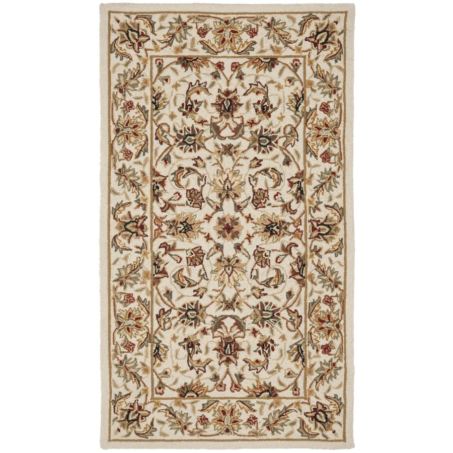 Safavieh Chelsea York Ivory/Ivory Rectangular Indoor Handcrafted Lodge Throw Rug (Common: 3 x 5; Actual: 2.75-ft W x 4.75-ft L)