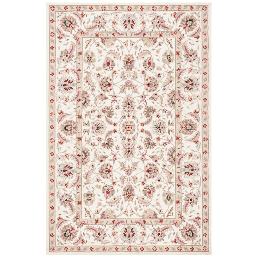 Safavieh Chelsea York Ivory Indoor Handcrafted Lodge Area Rug (Common: 5 x 8; Actual: 5.25-ft W x 8.25-ft L)