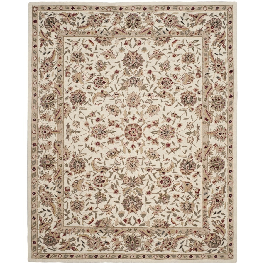 Safavieh Chelsea York Ivory/Ivory Rectangular Indoor Handcrafted Lodge Area Rug (Common: 8 X 11; Actual: 8.75-ft W x 11.75-ft L)