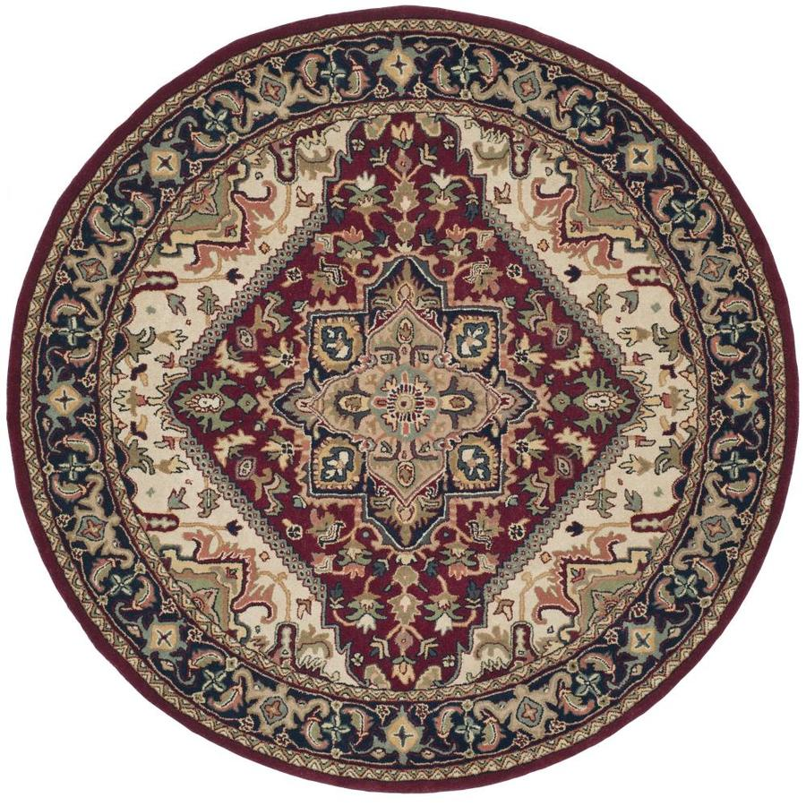 Safavieh Heritage Heriz Red Round Indoor Handcrafted Oriental Area Rug (Common: 6 x 6; Actual: 6-ft W x 6-ft L x 6-ft dia)