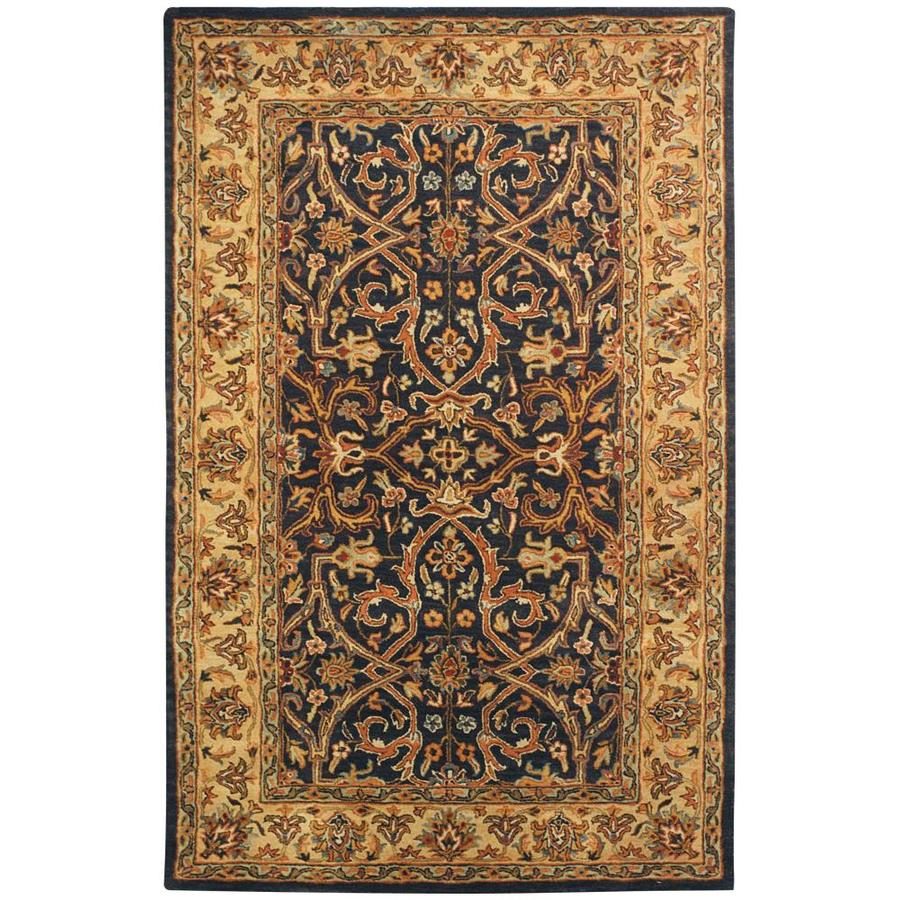 Safavieh Heritage Charcoal and Beige Rectangular Indoor Tufted Area Rug (Common: 10 x 14; Actual: 114-in W x 162-in L x 0.83-ft Dia)