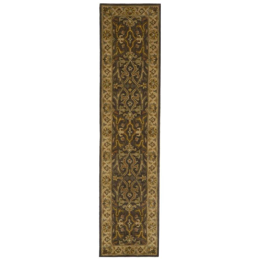Safavieh Heritage Tabriz Charcoal/Beige Indoor Handcrafted Runner (Common: 2 x 8; Actual: 2.25-ft W x 8-ft L)