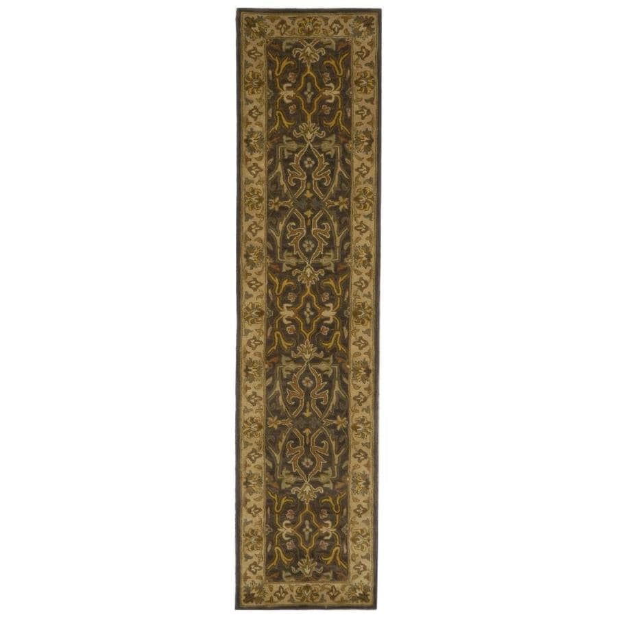 Safavieh Heritage Tabriz Charcoal/Beige Indoor Handcrafted Runner (Common: 2 x 12; Actual: 2.25-ft W x 12-ft L)