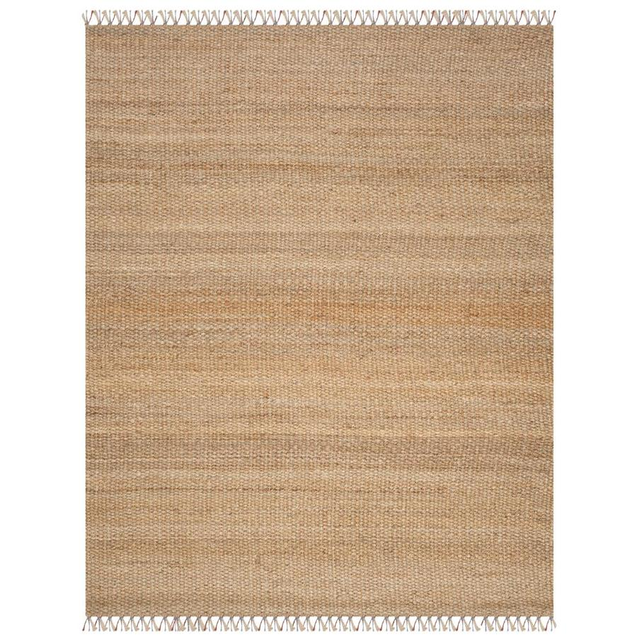 Safavieh Natural Fiber Islandia Natural Rectangular Indoor Handcrafted Coastal Area Rug (Common: 8 x 10; Actual: 8-ft W x 10-ft L)