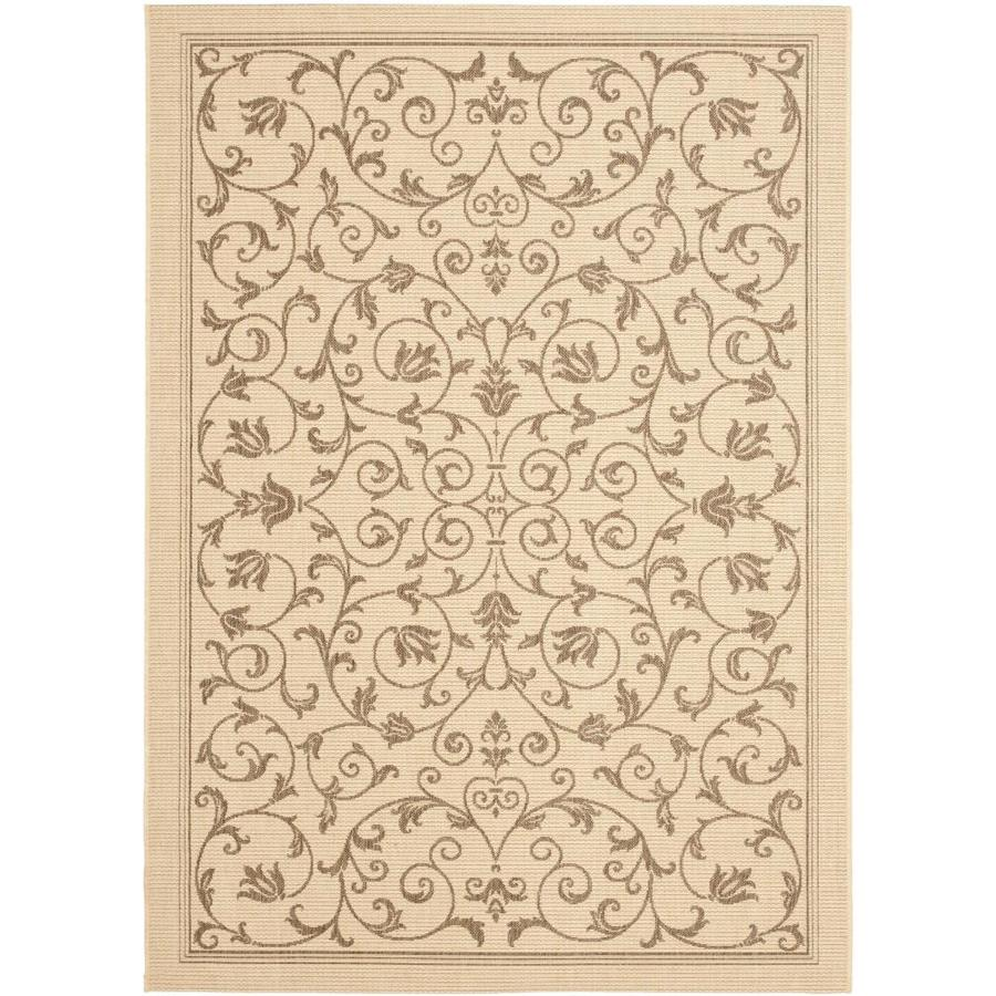 Safavieh Courtyard Heirloom Gate Natural/Brown Rectangular Indoor/Outdoor Machine-made Coastal Area Rug (Common: 5 x 7; Actual: 5.25-ft W x 7.58-ft L)