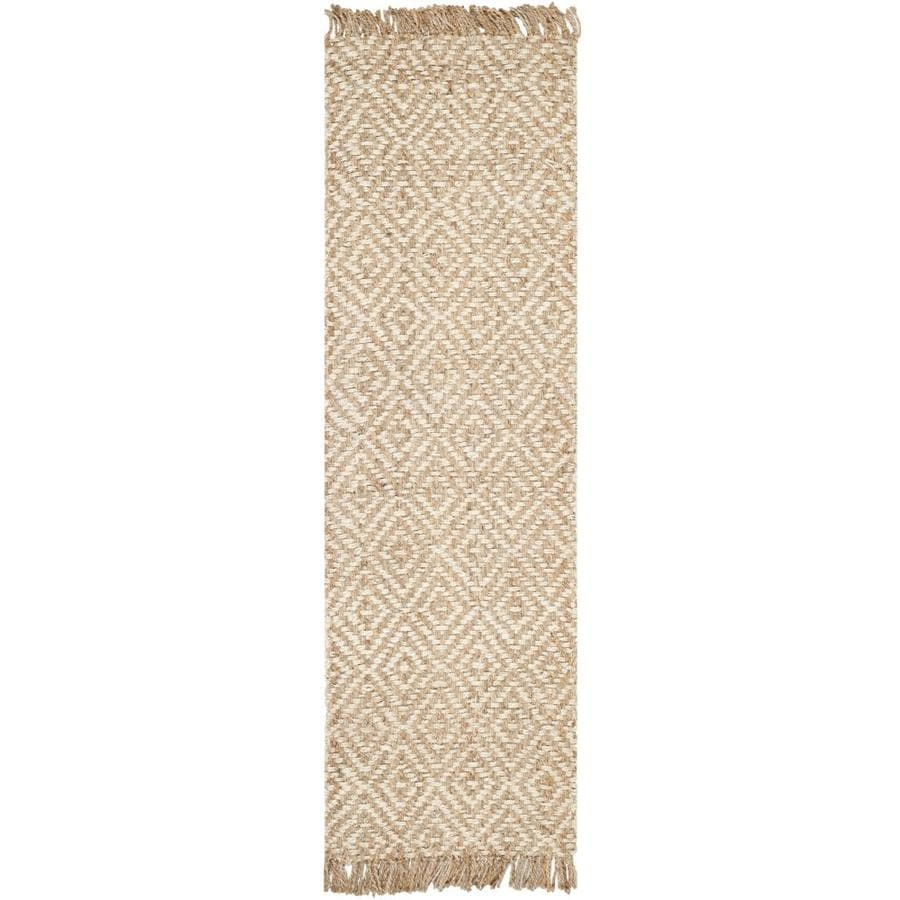 Safavieh Natural Fiber Islip Natural/Ivory Indoor Handcrafted Coastal Runner (Common: 2 x 10; Actual: 2.5-ft W x 10-ft L)