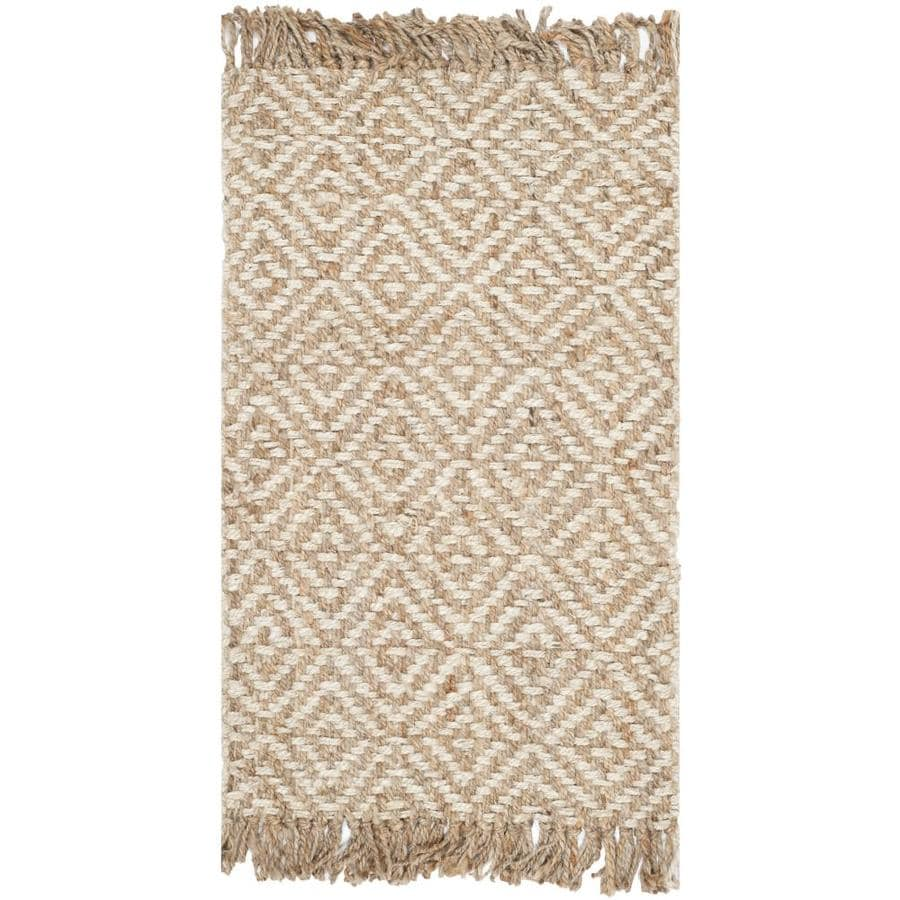 Safavieh Natural Fiber Islip Natural/Ivory Indoor Handcrafted Coastal Throw Rug (Common: 2 x 4; Actual: 2.5-ft W x 4-ft L)