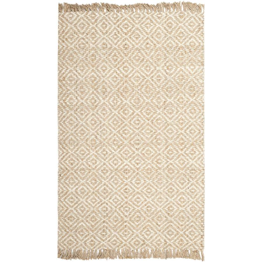 Safavieh Natural Fiber Islip Natural/Ivory Indoor Handcrafted Coastal Area Rug (Common: 5 x 8; Actual: 5-ft W x 8-ft L)