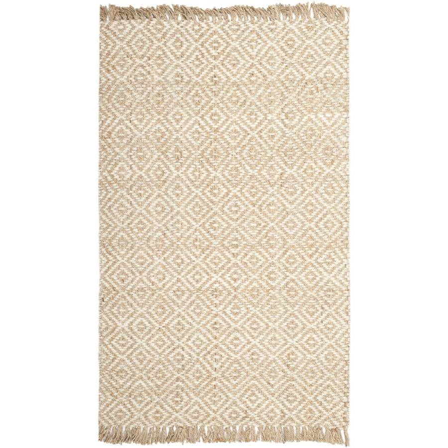 Safavieh Natural Fiber Islip Natural/Ivory Rectangular Indoor Handcrafted Coastal Area Rug (Common: 6 x 9; Actual: 6-ft W x 9-ft L)