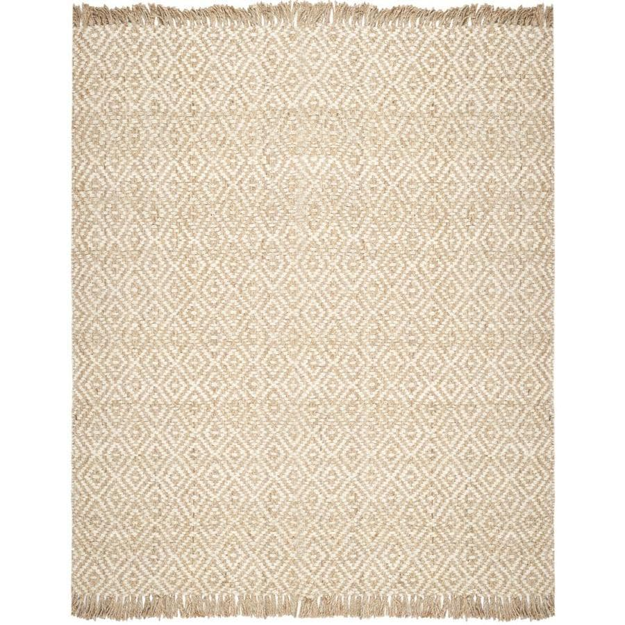 Safavieh Natural Fiber Islip Natural/Ivory Indoor Handcrafted Coastal Area Rug (Common: 9 x 12; Actual: 9-ft W x 12-ft L)