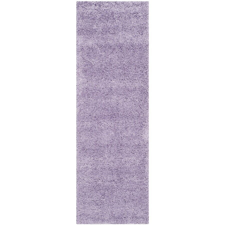 Safavieh California Shag Lilac Rectangular Indoor Machine-Made Throw Rug