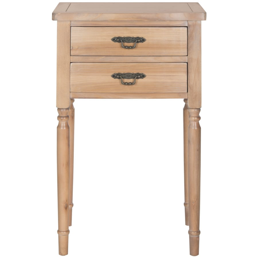 Safavieh American Home Honey Natural Poplar Rectangular End Table