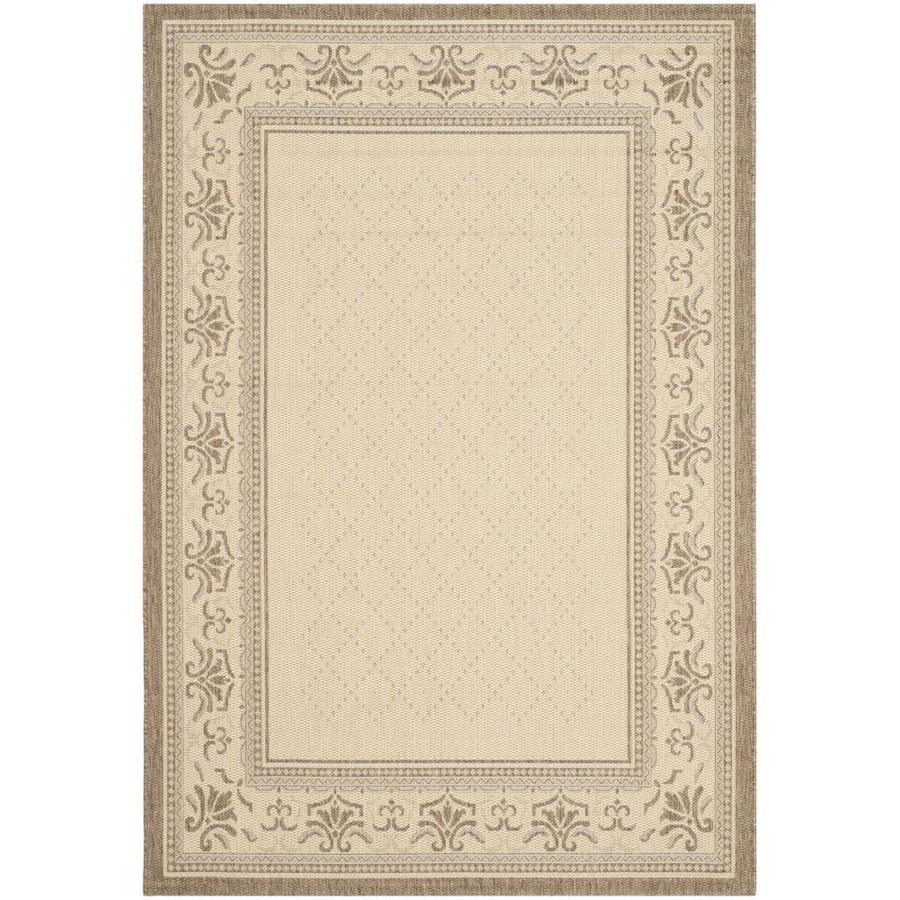 Safavieh Courtyard Trellis Vine Natural/Brown Rectangular Indoor/Outdoor Machine-Made Coastal Area Rug (Common: 5 x 7; Actual: 5.25-ft W x 7.58-ft L)