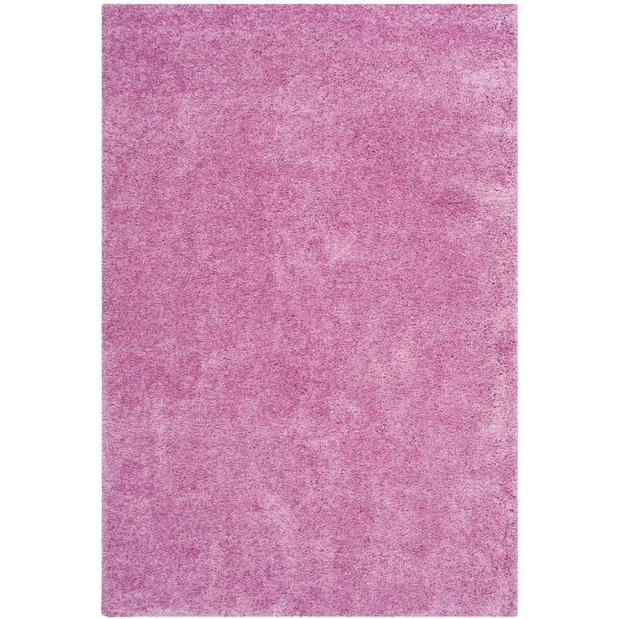 Safavieh California Shag Pink Indoor Area Rug (Common: 4 x 6; Actual: 4-ft W x 6-ft L)
