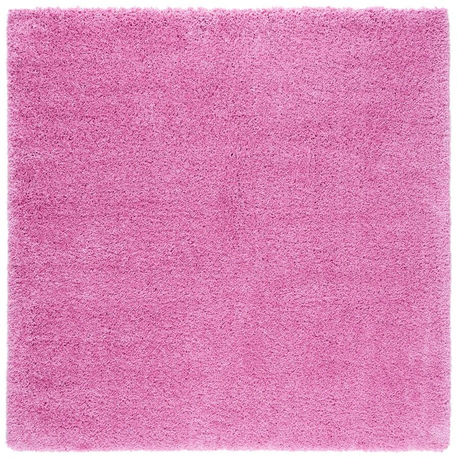 Safavieh California Shag Pink Square Indoor Area Rug (Common: 7 x 7; Actual: 6.7-ft W x 6.6-ft L)