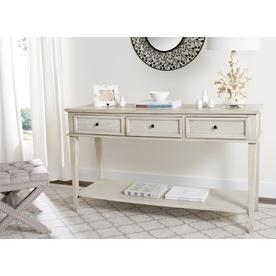 Safavieh Manelin White Washed Wood Casual Console Table