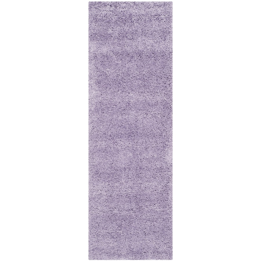 Safavieh California Shag Lilac Indoor Runner (Common: 2 x 7; Actual: 2.25-ft W x 7-ft L)