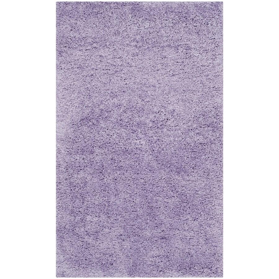 Safavieh California Shag Lilac Rectangular Indoor Machine-made Throw Rug (Common: 3 x 5; Actual: 3-ft W x 5-ft L)