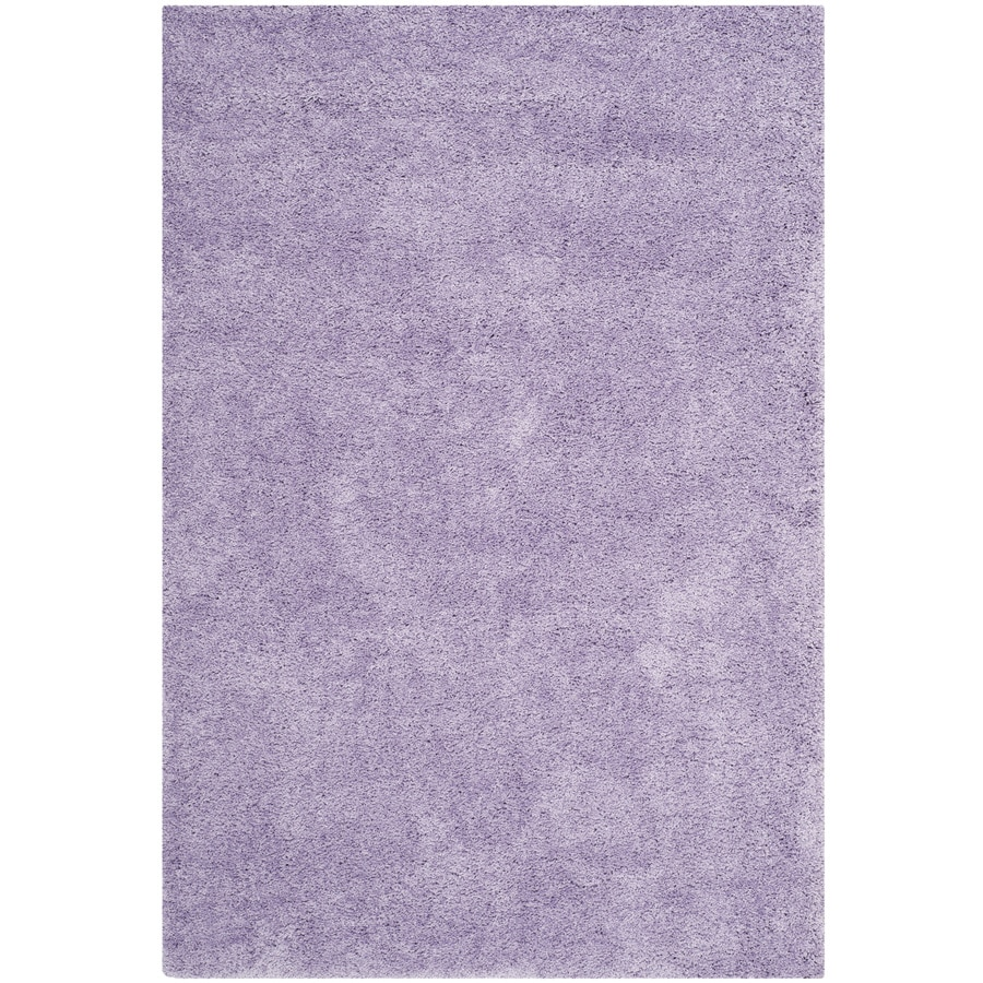 Safavieh California Shag Lilac Rectangular Indoor Machine-Made Area Rug (Common: 4 x 6; Actual: 4-ft W x 6-ft L)