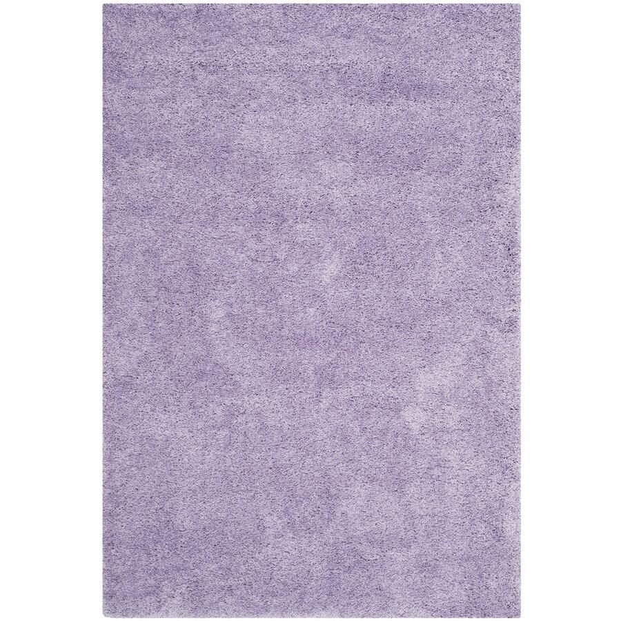 Safavieh California Shag Lilac Indoor Area Rug (Common: 5 x 8; Actual: 5.25-ft W x 7.5-ft L)