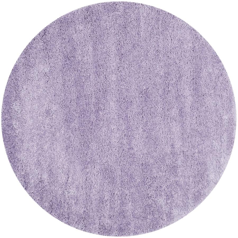 Safavieh California Shag Lilac Round Indoor Machine-Made Area Rug (Actual: 6.583-ft dia)