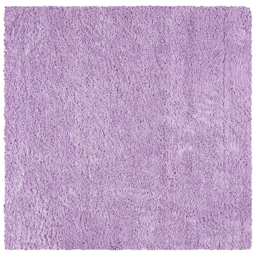 Safavieh California Shag Lilac Square Indoor Machine-Made Area Rug (Common: 6 x 6; Actual: 6.583-ft W x 6.583-ft L x 0-ft Dia)