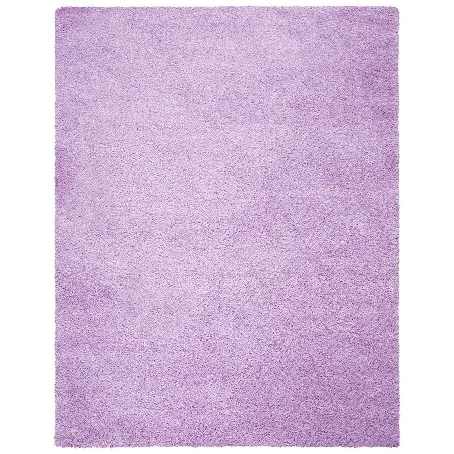 Safavieh California Shag Lilac Rectangular Indoor Machine-made Area Rug (Common: 8 x 10; Actual: 8-ft W x 10-ft L)