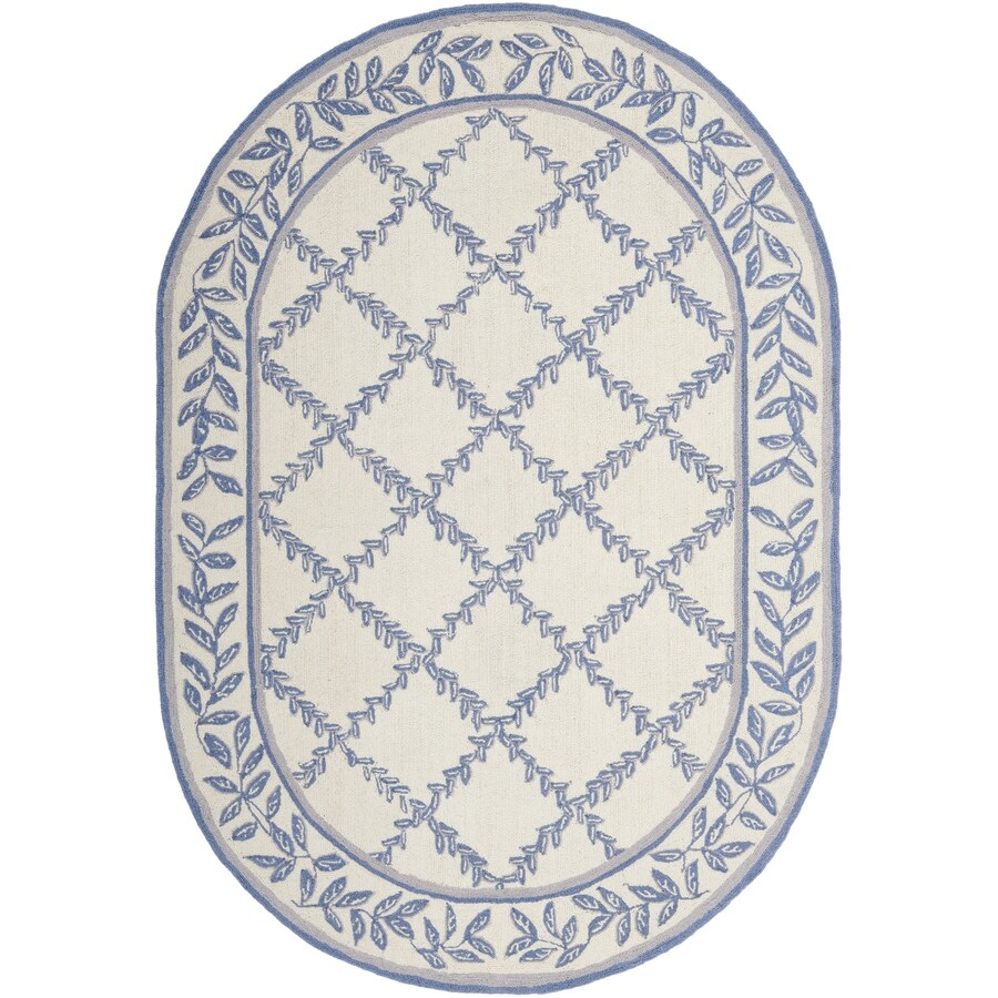 Safavieh Chelsea Lattice Ivory Light Blue Oval Indoor