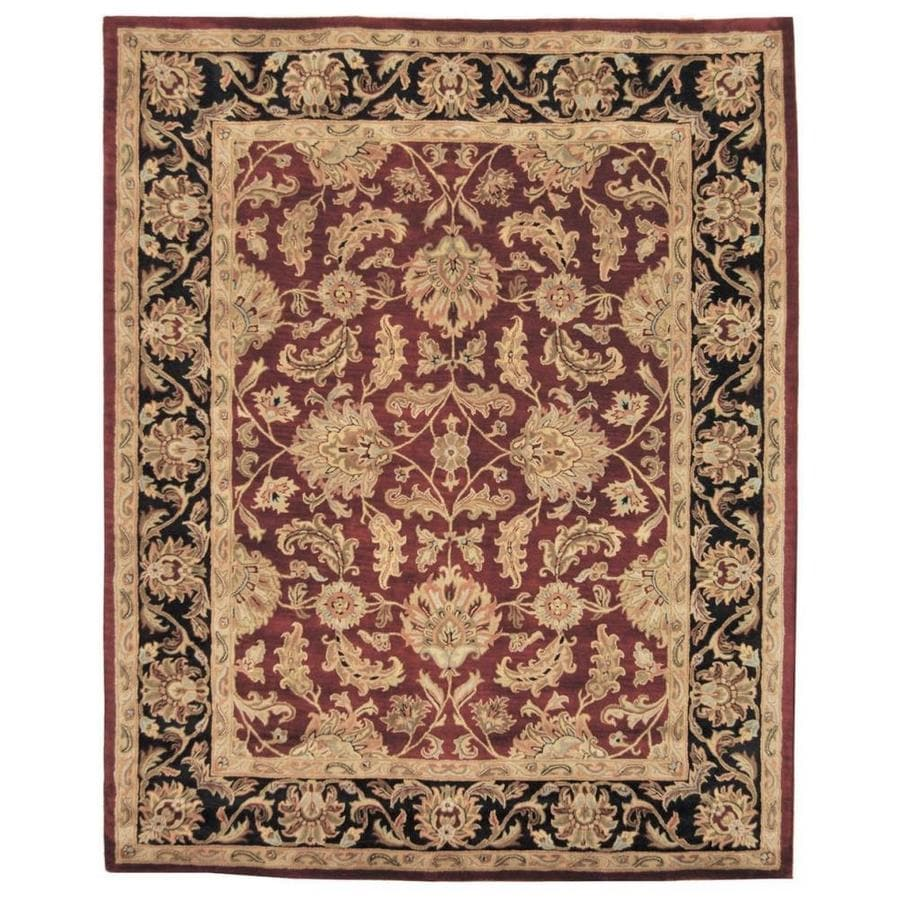 Safavieh Heritage Kashan Red/Black Rectangular Indoor Handcrafted Oriental Area Rug (Common: 9 x 12; Actual: 9.5-ft W x 13.5-ft L)